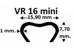 0035L16 GRAPA VR-16 MINI  GALVANIZADA (LIG-16) OMEGA EMBALAJE 60.000 UDS.