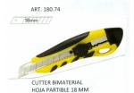 1509018074 CUTTER  BIMATERIAL NEGRO-AMARILLO CUCHILLA 18 MM. REF.36074