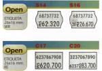 5322 ETIQUETA OPEN EN ROLLO  BLANCA PARA MAQUINAS 26X16