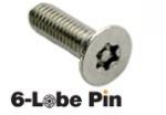 DTORSEG021 Tornillo de Seguridad 6-Lobe Pin