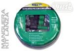 CLAZW2012L MANGUERA AGUA PVC 12mm 20M + LANZADERA + CONEX.