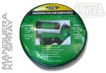 CLAZW1515S MANGUERA AGUA PVC 15mm 15M + PISTOLA DUCHA + CONEX.