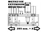 MGTH210X EXTENSION MESA PARA TH 210 285 mm.+X